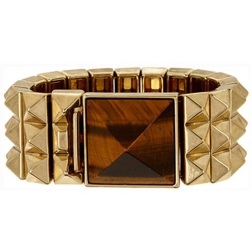 House of Harlow Women's Gold Plated Pyramid Bangle Bracelet